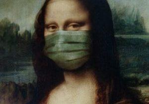 Mona Lisa mit Maske NEU